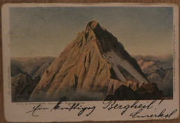 Triglav, 1901?, Pernhard, Marko Pernhart, Morgenstimmung, Vrh Ob Jutranji Zori, Potovala, Triglavski Vrh, Ledenik, Gora - Slovenië
