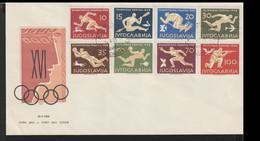 Yugoslavia FDC 1956 Melbourne Olympic Games (LF17) - Zomer 1956: Melbourne