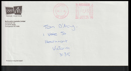 Australia Cover Marked Postage Paid From McDonalds Australia - Official Partner Of The 2000 Sydney Games (LF17) - Zomer 2000: Sydney