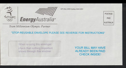Australia Cover Marked Postage Paid From EnergyAustralia - Official Partner Of The 2000 Sydney Games (LF17) - Zomer 2000: Sydney