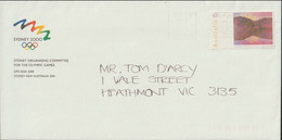 Australia Cover From Sydney 2000 Organising Committee For The Olympic Games With Faint Postmark (LF17) - Zomer 2000: Sydney