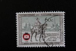 1966,BELGIQUE Y&T NO 1395 60C SEPIA ET VERT   OBLITERE .. - Oblitérés