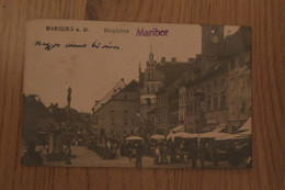 Maribor, 1923, Marbug A. D., Hauptplatz, Glavni Trg, Kompletna, Štajerska, Untersteiermark, Rathaus, Tržnica, Branjevke - Slovenië