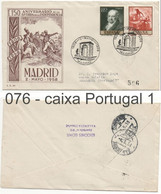 076 Sobre Certificado A Portugal: AMARANTE: MADRID 1958 - 1951-60 Brieven