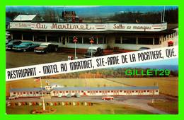 STE-ANNE DE LA POCATIÈRE, QUÉBEC - RESTAURANT- MOTEL AU MARTINET - 2 MULTIVUES - UNIC - - Andere