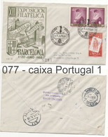 077 Sobre Certificado A Portugal: AMBULANCIA BEIRA ALTA II: BARCELONA - 1951-60 Brieven