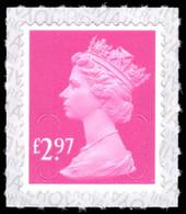 2021 £2.97 Rose Pink U-slits Unmounted Mint. - Machins