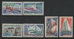 POLYNESIE FRANCAISE N° 36 à 41 Neufs ** (MNH) Cote 31,40 € Série Des Bateaux De 1966. TB - Ungebraucht