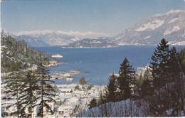 UNUSUAL SNOW - HORSESHOE BAY (British Columbia), Gel., 2 Sondermarken, Transportspuren - Andere