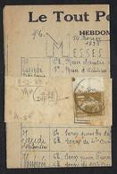 FRANCE Journaux 1935:  Bande De Journaux Affr. De 1c, Avec Journal à L'intérieur - Newspapers