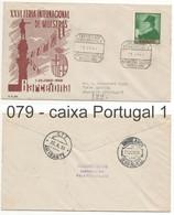 079 Sobre Certificado A Portugal: AMBULANCIA BEIRA ALTA II:BARCELONA 1958 - 1951-60 Brieven