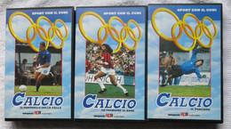 N° 3 VHS PAL - SCUOLA CALCIO - DELLA SAMPAOLO AUDIOVISIVI - - Sports
