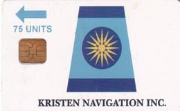GREECE - Kristen Navigation Inc, Satellite Phonecard 75 Units, Used - Barcos