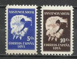 2652 -SERIE COMPLETA GUERRA CIVIL LOYA** FALANGE ESPAÑOLA ASISTENCIA SOCIAL. - Nationalistische Uitgaves