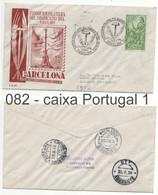082 Sobre Certificado A Portugal: AMBULANCIA BEIRA ALTA II: BARCELONA 1958 - 1951-60 Brieven
