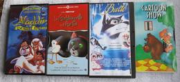 4 VHS CARTONI ANIMATI -carton Show-baldo-aladin Il Re Dei Ladri-la Gabbianella E Il Gatto - - Dibujos Animados