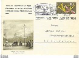 """3 - 78 - Entier Postal """"100 Ans Postes Fédérales"""" 1949 - Attention Léger Pli - Entiers Postaux"""