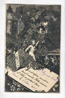 CPA Faire Part De Naissance Du 21 Mai 1902-Belle Illustration - Nacimientos