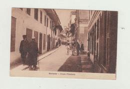 CARTOLINA  DURAZZO -STRADA PRINCIPALE -  ALBANIA -POSTA MILITARE 50 DEL 1922 VIAGGIATA VERSO AVELLINO WW1 - Albanie