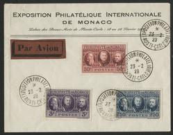 MONACO N° 111 à 113 (Cote Oblitérés 18,90 €) Série Exposition Philatélique En 1928 (voir Description) - Briefe U. Dokumente