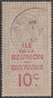 Réunion 1907-1947 - Colis Postal N° 10 (YT) N° 6 (AM) Oblitéré. - Gebraucht