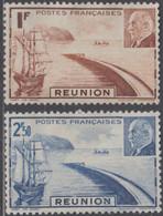 Réunion 1907-1947 - N° 178 & 179 (YT) N° 185 & 186 (AM) Neufs *. - Nuovi