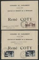 N° 939 + N° 967 (x2) Sur Deux Bulletins De Vote Pour L'Election Du Président COTY En 1953 (voir Description) - 1921-1960: Période Moderne