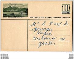 """6 - 74 - Entier Postal Avec Illustration """"Blick Von Heiligenschwendi Ob Thun"""" Entier écrit Mais Pas Posté 1950 - Entiers Postaux"""