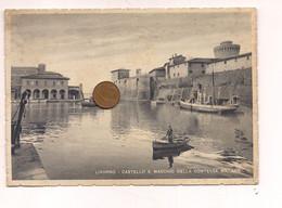 M9853 Toscana LIVORNO 1941 Viaggiata Francobollo Tolto - Livorno