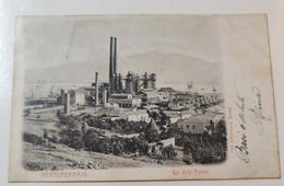 Portoferraio Gli Alti Forni Viaggiata 1905 - Livorno