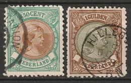 Netherlands 1896 Sc 51-2  Used - Usados