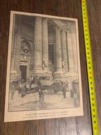 ANNEES 20/30 Avant L Ouverture Du Salon Automobile Voitures Devant Le Grand Palais Paris - Collezioni
