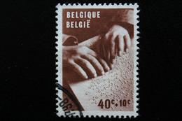 """1962,BELGIQUE Y&T NO 1225 40C+10C BRUN """"AVEUGLE LISANT EN BRAILLE... - Oblitérés"""