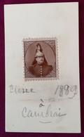 CARTE DE VISITE PIERRE GELLINARD REDACTEUR SPORTIF DE L'INDEPENDANCE BELGE JOURNAL PRESSE JOURNALISTE PHOTO CAMBRAI 1889 - Visiting Cards