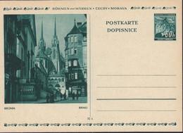 BÖHMEN UND MÄHREN  P 6, Ungebraucht, Brünn, Lindenblätter 1939 - Briefe U. Dokumente