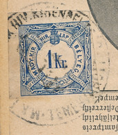 HONGRIE JOURNAL COMPLET TAXE Pour JOURNAUX 1KR COIN DE FEUILLE / DAS KRÄNZCHEN - AUTRICHE Austria Hungary Due Newspaper - Postmark Collection