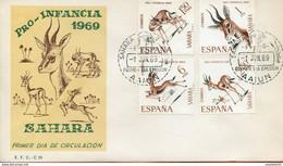 """Maroc; FDC,primer Dia;1er Jour; 1969 """" Sahara Espagnol  """" Pro Infancia """"Morocco;Marruecos - Sahara Spagnolo"""