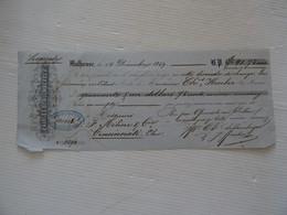 Reçu Mulhouse 14 Décembre 1859 Prix En Dollars  Charles Schlumberger TBE - Sin Clasificación