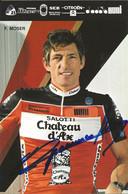 CARTE CYCLISME FRANCESCO MOSER SIGNEE TEAM CHATEAU D'AX 1988 - Cycling