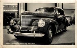 CARTE PHOTO RPPC OPEL KAPITAN  INTERN AUTOMOBIL AUSSTELLUNG BERLIN 1939  VOITURE CAR COCHES Bryan Goodman Collection - PKW