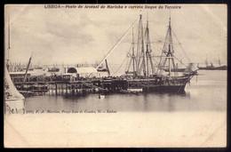 """POSTAL Antigo De LISBOA C/ Corveta """"DUQUE Da TERCEIRA"""". Edição De F.A.Martins. War Ship SLOOP CORVETTE Portugal 1900 - Warships"""