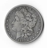 USA=1892-S   SILVER  MORGAN  DOLLAR - 1878-1921: Morgan