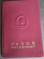 FAMILY PASSPORT YUGOSLAVIA, 1961,  PHOTOS, VISA WITH TAX STAMPS ITALY, SEALS FOR APPROVED TRAVEL - Documentos Históricos