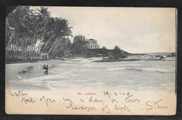 Ceylon (Sri Lanka) - 1904 View Of Mt. Lavinia - Posted Colombo To UK - Sri Lanka (Ceylon)