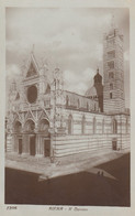 SIENA-IL DUOMO-CARTOLINA VERA FOTOGRAFIA-NON VIAGGIATA 1920-1930 - Siena