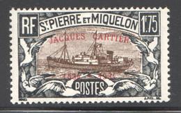 SPM   1934  Quadricentenaire Jacques Cartier 1 Fr 75 Goêlette Yv 159D * - Unused Stamps