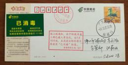 "CN 20 Nanhai Anti COVID-19 Pandemic ""Normalization Of Epidemic Prevention & Disinfection"" Propaganda PMK Used On Card - Disease"