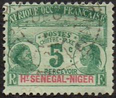 Haut-Sénégal Et Niger Obl. N° Taxe 1 - Médaillon 5c Vert - Oblitérés