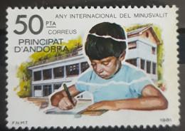 ANDORRA ESPAÑOLA 1981 International Handicap Year. USADO - USED. - Used Stamps