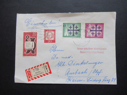 Berlin (West) 1961 Einschreiben Berlin Grunewald 1 MiF Bedeutende Deutsche / Kirchentag Und Rundfunk Ausstellung - Storia Postale
